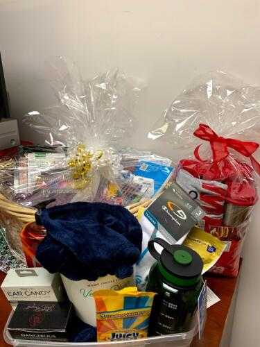 Baskets of prizes for aging out youth