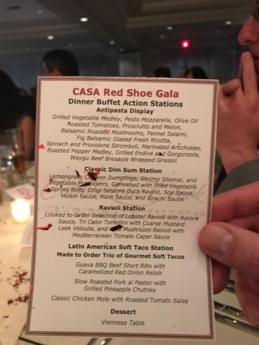 Red Shoe Gala Menu CCCC