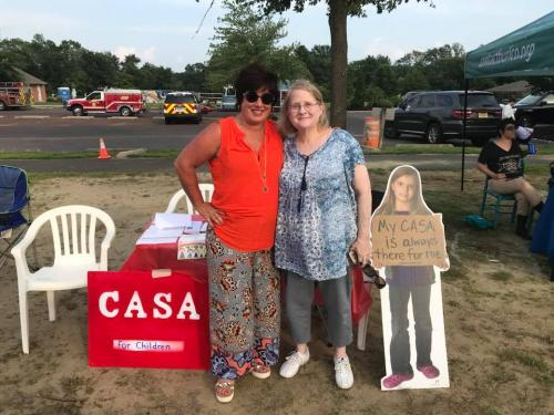 Roseann with volunteer Medford Freedom Park and CASA